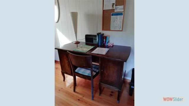 Bureau in de woonkamer
